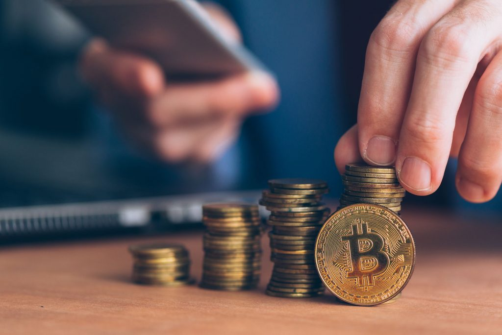Grandes quantias de bitcoins